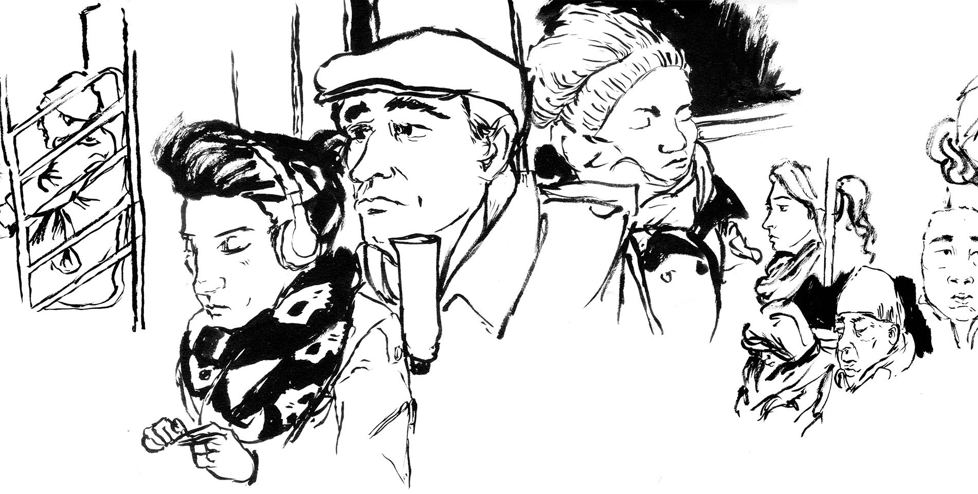 Subway Project - drawn on location