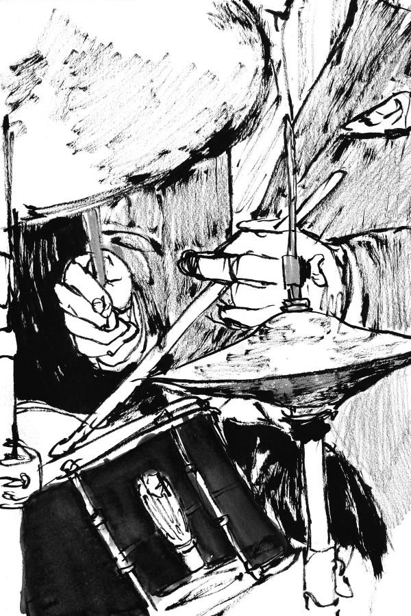 Drawing on location - Fat Cat Jazz Club